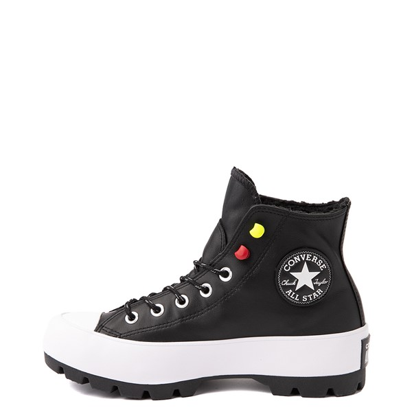 alternate view Womens Converse Chuck Taylor All Star Hi MC Lugged Sneaker - BlackALT1