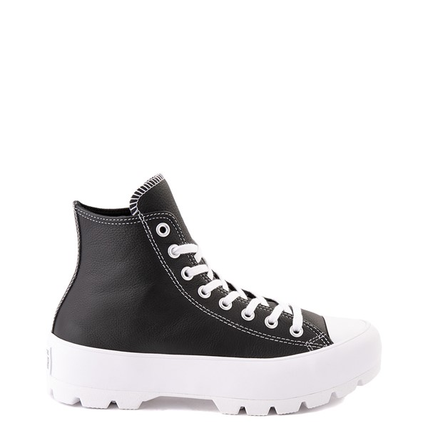 Main view of Womens Converse Chuck Taylor All Star Hi Lugged Leather Sneaker - Black