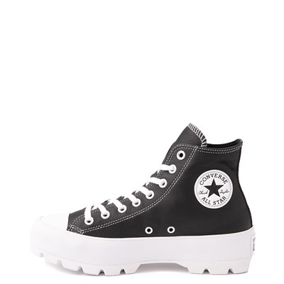 Alternate view of Womens Converse Chuck Taylor All Star Hi Lugged Leather Sneaker - Black