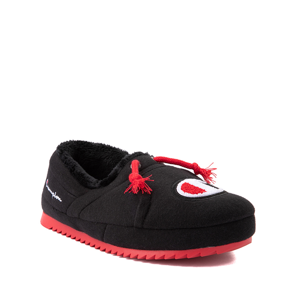 alternate view Champion University Slipper - Big Kid - Black / RedALT5
