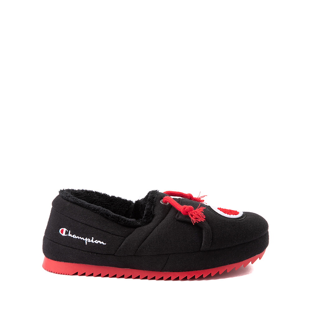 Champion University Slipper - Big Kid - Black / Red