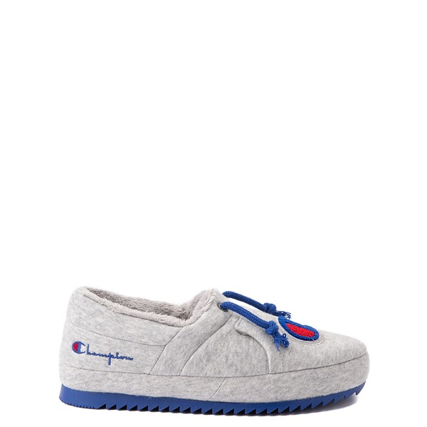Champion University Slipper - Big Kid - Gray / Royal Blue