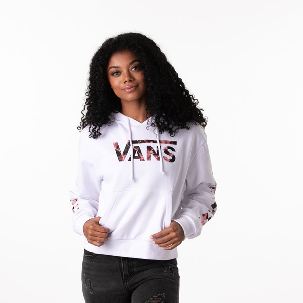 Main view of Womens Vans Spiral Tangle Boyfriend Hoodie - White