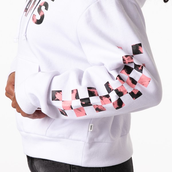 alternate view Womens Vans Spiral Tangle Boyfriend Hoodie - WhiteALT2C