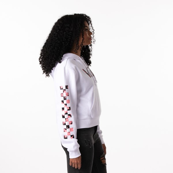 alternate view Womens Vans Spiral Tangle Boyfriend Hoodie - WhiteALT3