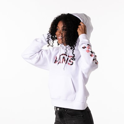 Alternate view of Womens Vans Spiral Tangle Boyfriend Hoodie - White