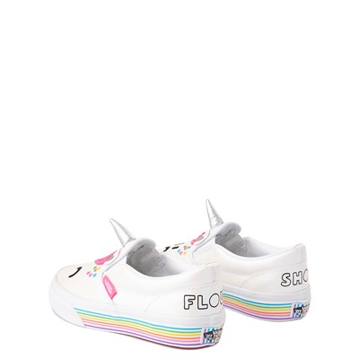 Alternate view of Vans x FLOUR SHOP Slip On Cara The Unicorn Skate Shoe - Little Kid - White
