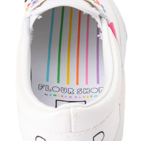 alternate view Vans x FLOUR SHOP Slip On Cara The Unicorn Skate Shoe - Big Kid - WhiteALT6