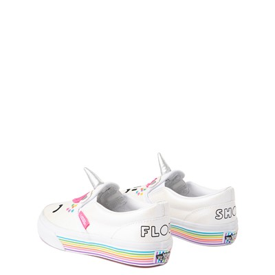 Alternate view of Vans x FLOUR SHOP Slip On Cara The Unicorn Skate Shoe - Big Kid - White