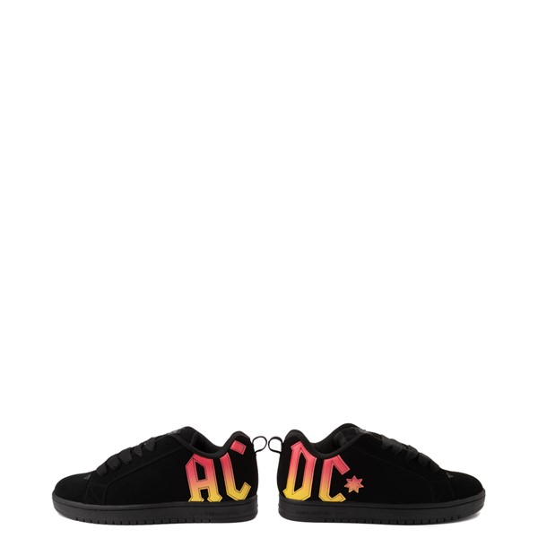 alternate view Mens DC Court Graffik AC/DC Skate Shoe - BlackALT1