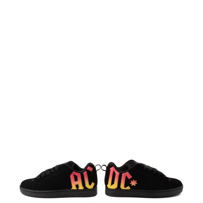 Alternate view of Mens DC Court Graffik AC/DC Skate Shoe - Black