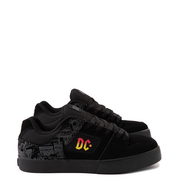 Main view of Mens DC Pure AC/DC Skate Shoe - Black