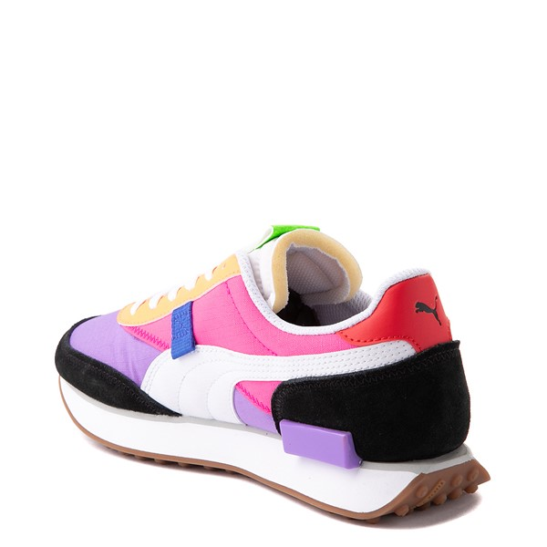 alternate view Womens Puma Future Rider Play On Athletic Shoe - Purple / Pink / White / BlackALT1