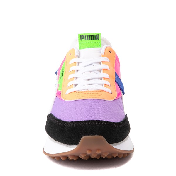 alternate view Womens Puma Future Rider Play On Athletic Shoe - Purple / Pink / White / BlackALT4