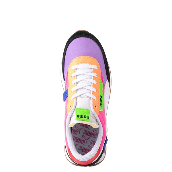 alternate view Womens Puma Future Rider Play On Athletic Shoe - Purple / Pink / White / BlackALT4B