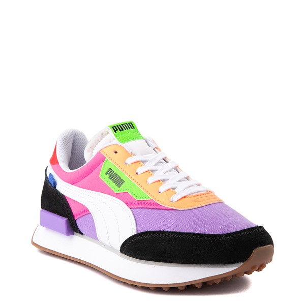 alternate view Womens Puma Future Rider Play On Athletic Shoe - Purple / Pink / White / BlackALT5