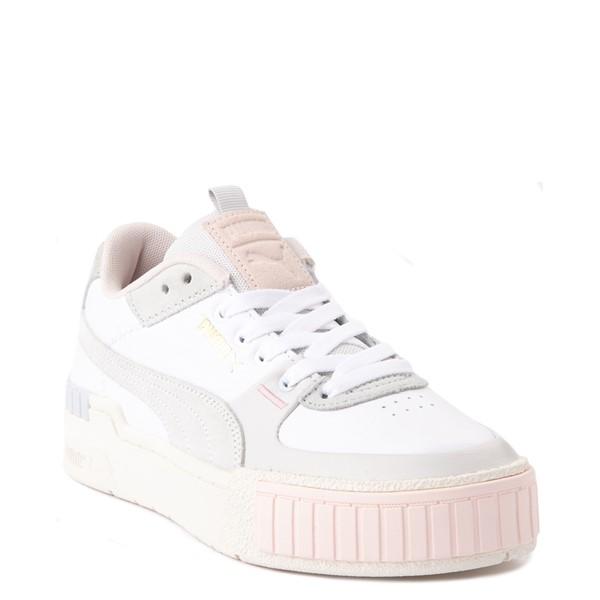 alternate view Womens Puma Cali Sport Athletic Shoe - White / MarshmallowALT5