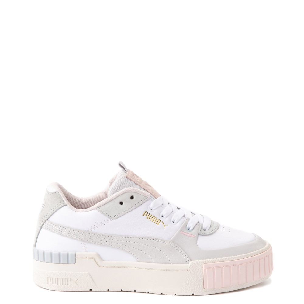 Womens Puma Cali Sport Athletic Shoe - White / Marshmallow
