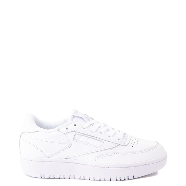 Main view of Womens Reebok Club C Double Athletic Shoe - White Monochrome