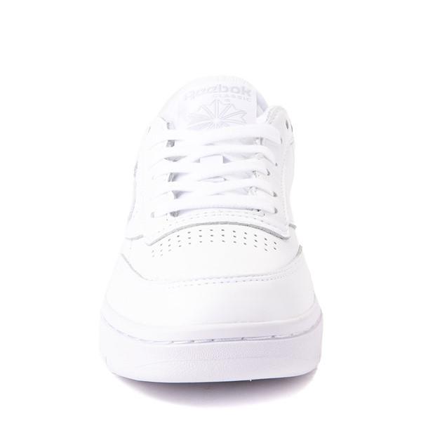 alternate view Womens Reebok Club C Double Athletic Shoe - White MonochromeALT4