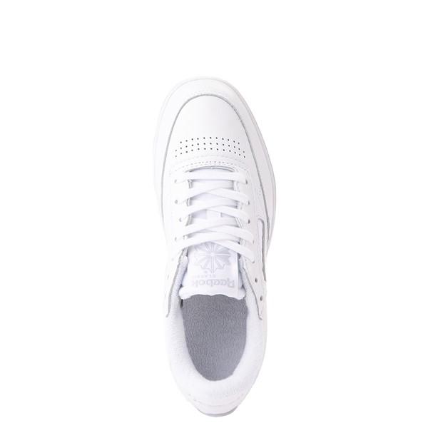 alternate view Womens Reebok Club C Double Athletic Shoe - White MonochromeALT4B