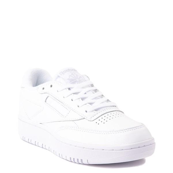 alternate view Womens Reebok Club C Double Athletic Shoe - White MonochromeALT5