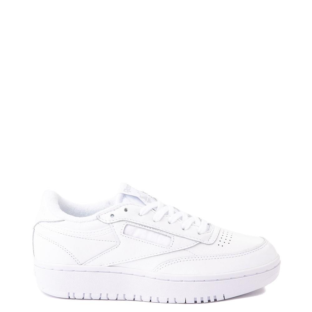 Womens Reebok Club C Double Athletic Shoe - White Monochrome