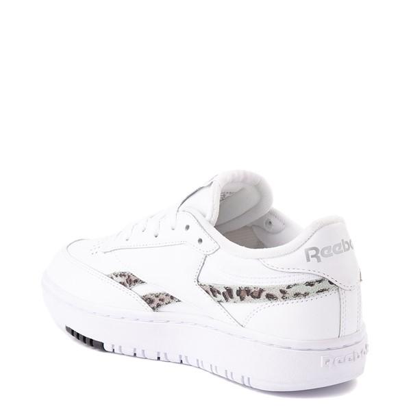 alternate view Womens Reebok Club C Double Athletic Shoe - White / Snow LeopardALT1