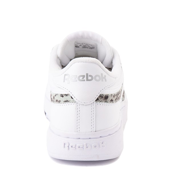 alternate view Womens Reebok Club C Double Athletic Shoe - White / Snow LeopardALT4