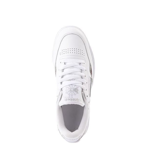 alternate view Womens Reebok Club C Double Athletic Shoe - White / Snow LeopardALT4B