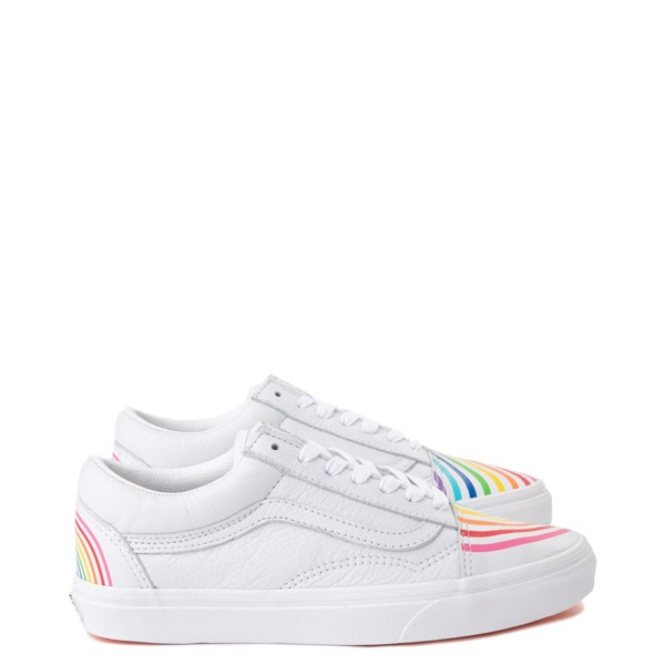Main view of Vans x FLOUR SHOP Old Skool Rainbow Skate Shoe - White