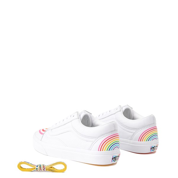alternate view Vans x FLOUR SHOP Old Skool Rainbow Skate Shoe - WhiteALT1