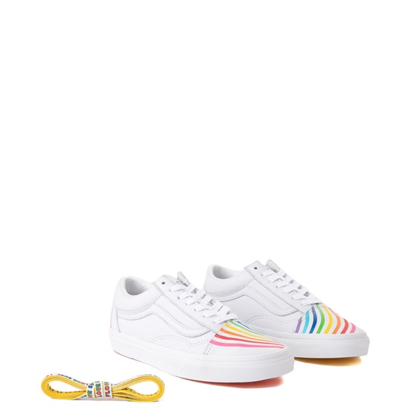 alternate view Vans x FLOUR SHOP Old Skool Rainbow Skate Shoe - WhiteALT1B