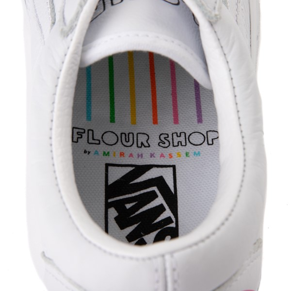 alternate view Vans x FLOUR SHOP Old Skool Rainbow Skate Shoe - WhiteALT2B