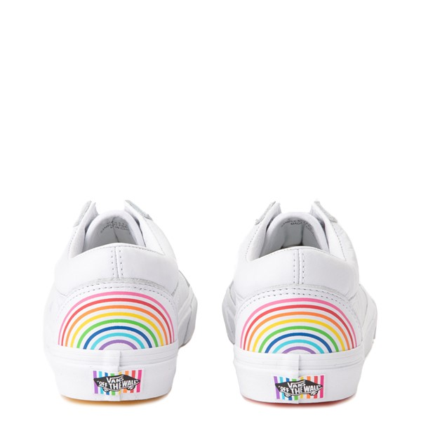 alternate view Vans x FLOUR SHOP Old Skool Rainbow Skate Shoe - WhiteALT4