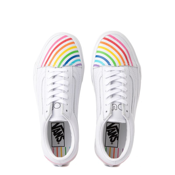 alternate view Vans x FLOUR SHOP Old Skool Rainbow Skate Shoe - WhiteALT4B
