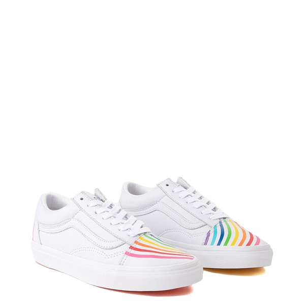 alternate view Vans x FLOUR SHOP Old Skool Rainbow Skate Shoe - WhiteALT5