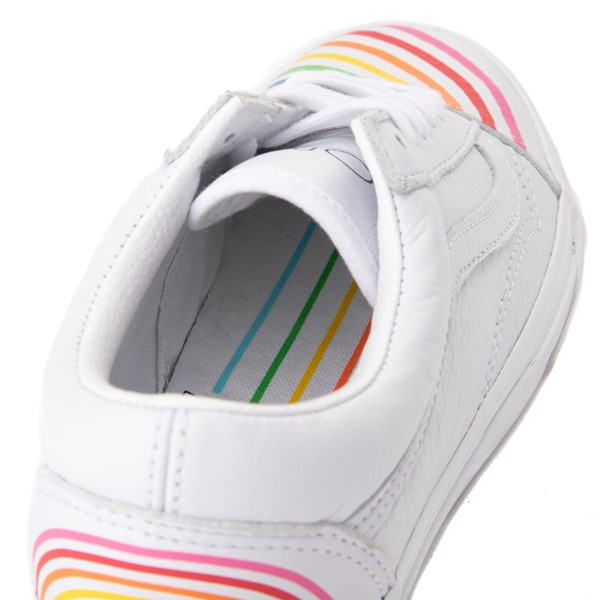 alternate view Vans x FLOUR SHOP Old Skool Rainbow Skate Shoe - WhiteALT7