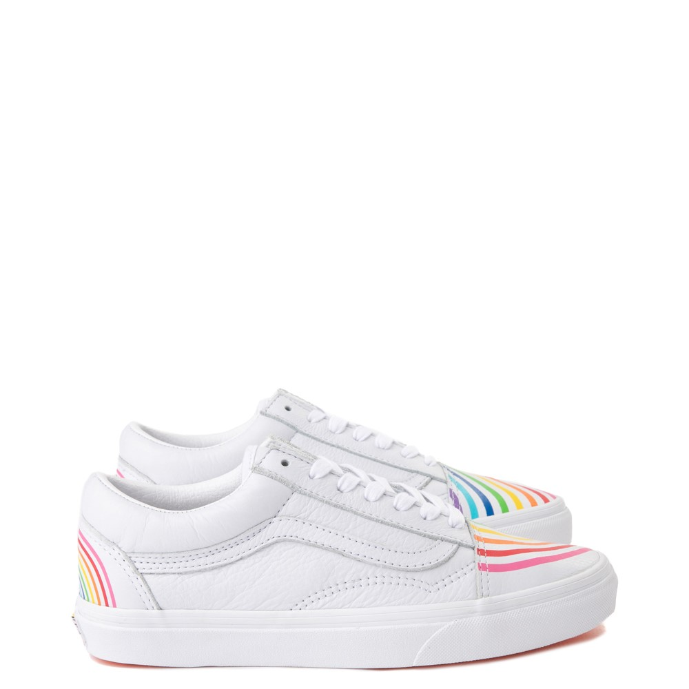 Vans x FLOUR SHOP Old Skool Rainbow Skate Shoe - White