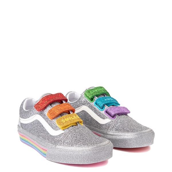 alternate view Vans x FLOUR SHOP Old Skool V Glitter Skate Shoe - Silver / RainbowALT1