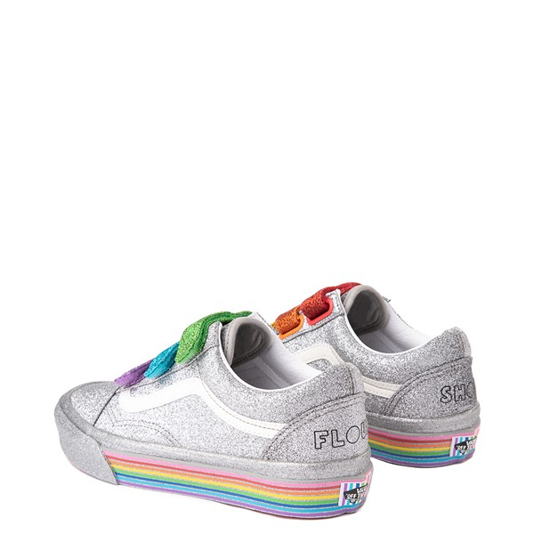 alternate view Vans x FLOUR SHOP Old Skool V Glitter Skate Shoe - Silver / RainbowALT2