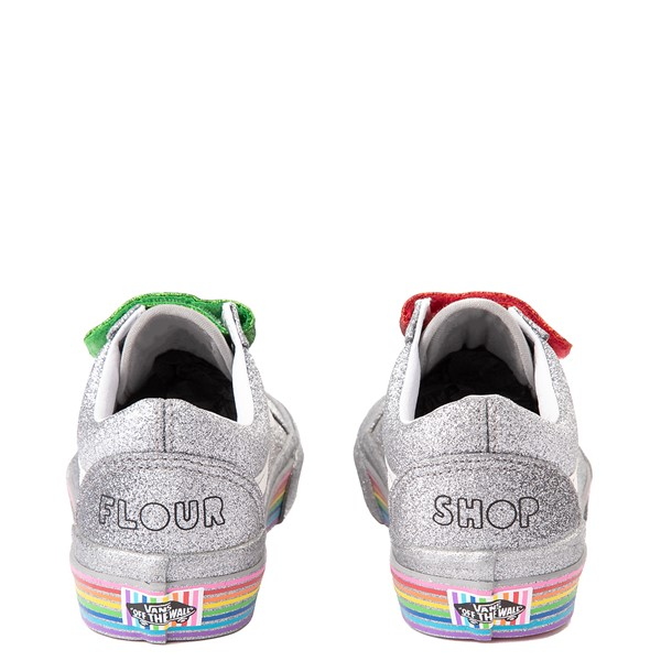 alternate view Vans x FLOUR SHOP Old Skool V Glitter Skate Shoe - Silver / RainbowALT2B