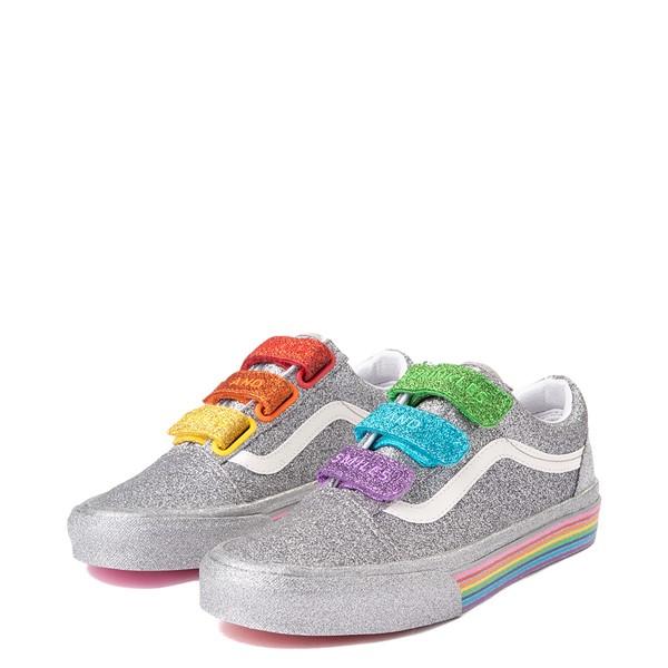 alternate view Vans x FLOUR SHOP Old Skool V Glitter Skate Shoe - Silver / RainbowALT3