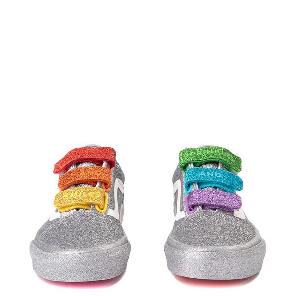 alternate view Vans x FLOUR SHOP Old Skool V Glitter Skate Shoe - Silver / RainbowALT4