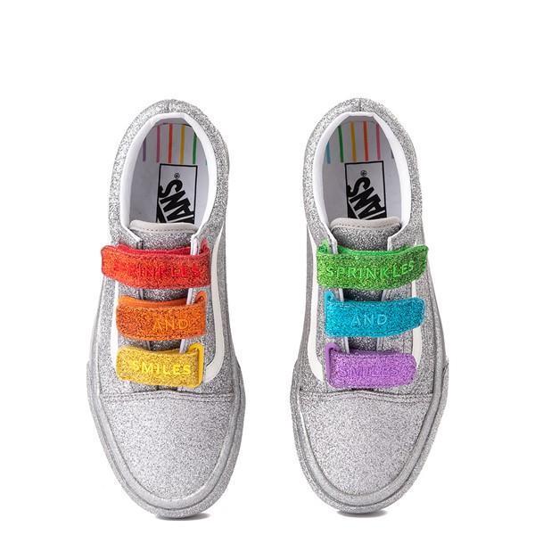 alternate view Vans x FLOUR SHOP Old Skool V Glitter Skate Shoe - Silver / RainbowALT4B