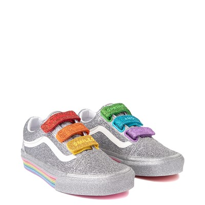 Alternate view of Vans x FLOUR SHOP Old Skool V Glitter Skate Shoe - Silver / Rainbow
