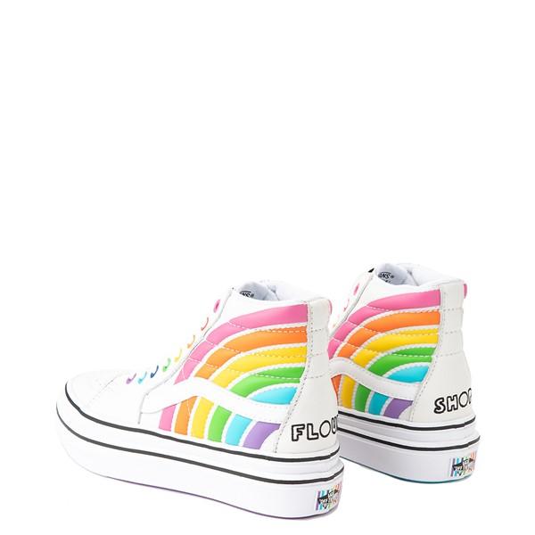 alternate view Vans x FLOUR SHOP Sk8 Hi Super ComfyCush® Platform Skate Shoe - White / RainbowALT2