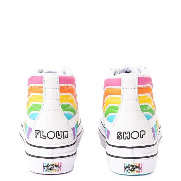alternate view Vans x FLOUR SHOP Sk8 Hi Super ComfyCush® Platform Skate Shoe - White / RainbowALT2B