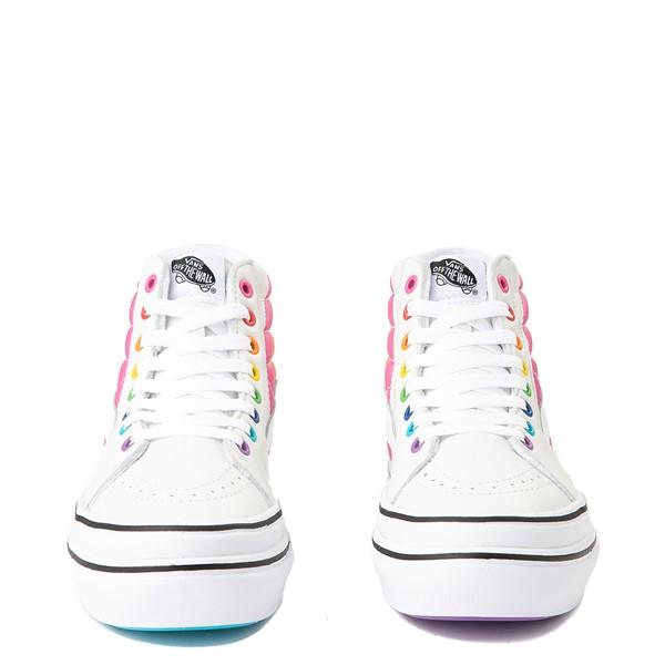 alternate view Vans x FLOUR SHOP Sk8 Hi Super ComfyCush® Platform Skate Shoe - White / RainbowALT4