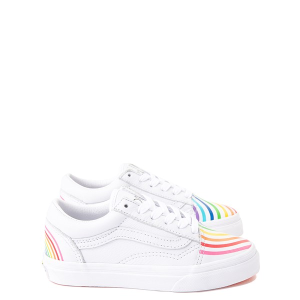 Vans x FLOUR SHOP Old Skool Rainbow Skate Shoe - Little Kid - White